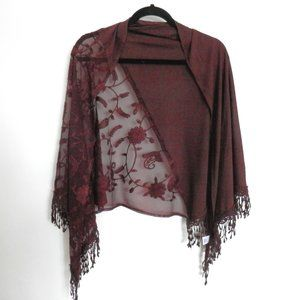 Accessories - 2/$20 Romantic Shawl Embroidered Women's Scarf